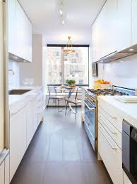 For Narrow Kitchens Long Kitchen Design Regarding Your Own Home Interior Joss
