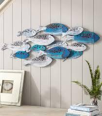 school of fish wall art decor coastal
