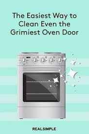 how to clean a glass oven door when it