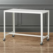 white desk office. Go-cart Rolling White Counter Table In Office Furniture + Reviews | CB2 Desk