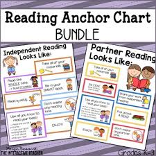 Reading Anchor Chart Bundle Anchor Charts For Independent Partner Reading