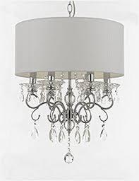 silver mist crystal drum shade chandelier lighting