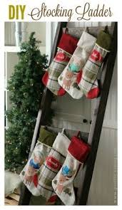 DIY Stocking Ladder: No mantel? No problem!