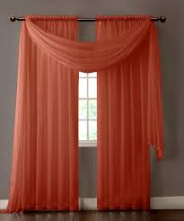 black and white ds elegant warm home designs pair of orange rust sheer curtains or extra long