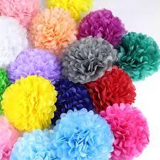 How To Make Tissue Paper Balls Decorations Tissue Paper Pom Poms 1000pcslot DIY 1000100 CM Decorative Flower 47