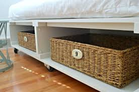 DIY Platform Bed With Storage And Baskets | Easy To Build DIY Platform Beds  Perfect For