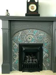 mosaic tile fireplace surround awe inspiring ideas home design
