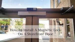 maglock on a front door