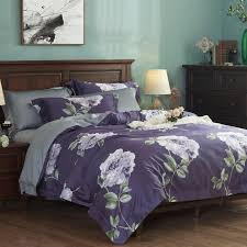 european egyptian cotton bed set king size bohemian bedding purple duvet cover soft queen size home textile bed sheet set bedroom comforters retro