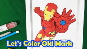 In this video i am coloring iron man from the marvel avengers! Iron Man Age Of Ultron Color Iron Man Mark 45 Coloring Pages Sailany Coloring Kids Youtube