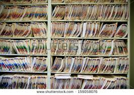 Medical Chart Shelves Record Office Stock Images Royalty Free Images Vectors