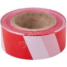<b>Лента сигнальная</b> (красно-белая) <b>50 мм</b> х 200 м FIT купить цена