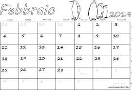 Calendario Febbraio 2019 Stampabile Pdf Liberi Di Stampa