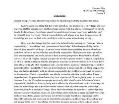 tok essay example co tok essay example