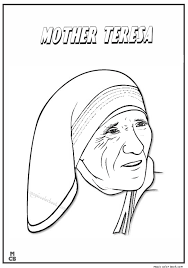 Famous People coloring pages mother teresa 01