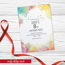 Personalised Birthday Invitations For Kids 13th 14th 15th 16th 17th Birthday Party Invitations For Girls For