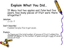 if mary had two apples and john had five pears