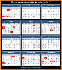 macau bank holidays 2018