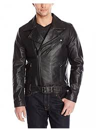 kenneth cole new york men s clean leather moto jacket black 76625