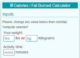Calories Burned Walking Chart Calorie Calculator Jogging In Place