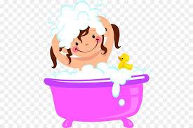 bathing bathtub bubble bath clip art a girl with a bath and a shampoo