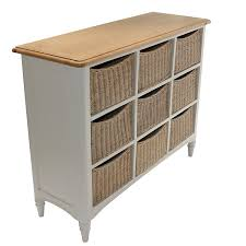 Wicker Basket Cabinet Life Carver Fully Assembled 10 Drawer Baskets Wide Functional