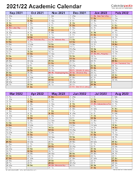 There is a very simple criterion to apply for the japanese government mext scholarship at top universities in japan. Academic Calendars 2021 2022 Free Printable Pdf Templates