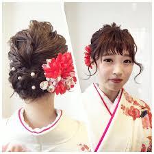 着物ヘアアレンジってこんなに可愛いの梅田hair Salon Itのヘアメイク
