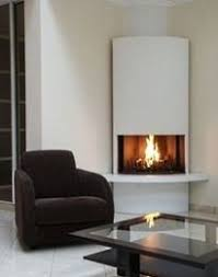 contemporry corner fireplaces | Modern Design Ideas For Round Corner  Fireplaces