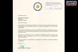 Copy Of Vp Leni S Resignation Letter