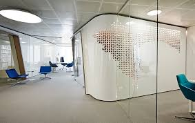 office space with glass walls photo 5