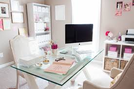 girly office. Bonnie Bakhtiari39s Pink And Chic Home Office Tour Sayeh Throughout Girly Regarding Invigorate D