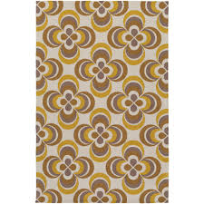 artistic weavers joan everston bright yellow 3 ft x 5 ft indoor area rug