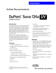 Dupont Tm Suva R 134a Uv Leakdetect