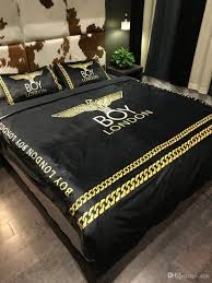 black design bedding luxury brand autumn and winter bed cover sets room warm bedding suit 555 cowboy bedding denim duvet cover from atju 125 63 dhgate