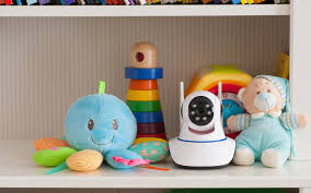 baby toys and on a secure shelf