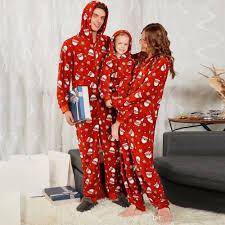Designer Christmas Pajamas 2019 Christmas Parent Child Clothing Onesies Fashion Designer Hooded Santa Print Jumpsuit Home Pajamas From Minico_wholesales 35 85 Dhgate Com