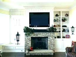 how to hide tv wires over brick fireplace how to mount on brick fireplace mount to