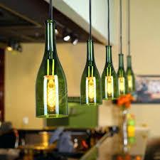 wine bottle pendant light vintage red bar balcony glass with bulb diy lights wine bottle pendant light custom made recycled