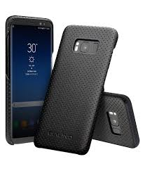 galaxy s8 s8 perforated leather back case black color