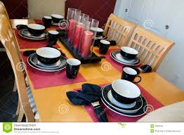Setting A Dinner Table Modern Dinner Table Setting Stock Photos Image 5086443
