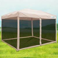 Image Yhome Product Image Quictent Ez Pop Up Canopy With Netting Screen House Instant Gazebo Party Tent Mesh Sides Walls National Band Tag Company Gazebos Walmartcom