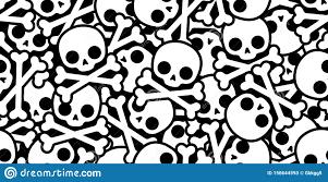 Design Repeat Wallpaper Symbols Skull Pirate Crossbones Seamless Pattern Halloween Scarf