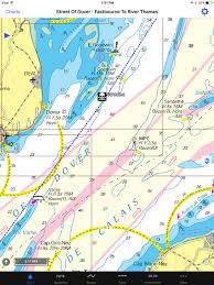 Dover Strait Chart Only A Coarse Scaled Blue And Yellow Map Displays My