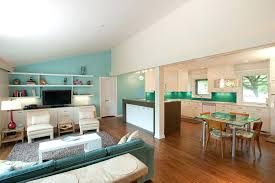 color schemes for living room and kitchen funky living room color schemes with kitchen combo using