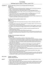 Knowledge Consultant Resume Samples Velvet Jobs