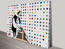 on banksy wall art prints with banksy keeping it spotless wall art print