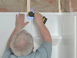 installing a direct to stud shower enclosure