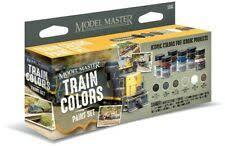 Testors Model Master 6 Color Paint Set Train Colors