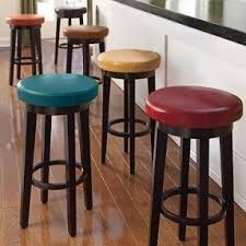 Blue Swivel Bar Stools Blue Leather A62